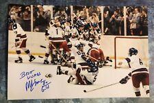 GFA 1980 Miracle on Ice Captain * MIKE ERUZIONE * Signed 12x18 Photo M5 COA