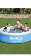 NEW BESTWAY 6ft Fast Set Paddling Swimming Pool Children's Kids Garden Patio