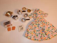 Vintage Mattel DOLL 1634 BARBIE LEARNS TO COOK DRESS TOASTER POTS PANS HTF