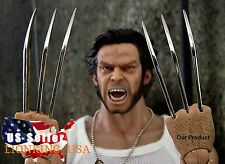 1/6 Wolverine Metal Claw Hands Realistic Hair Fist Steel Talons ❶USA❶ IN STOCK