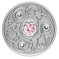 🇨🇦 Canada $5 Silver Coin, Birthstone - OCTOBER, Swarovski Crystals, UNC, 2020