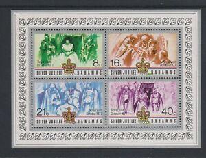 Bahamas - 1977, Argent Jubilé, Royal Visite Feuille - MNH - Sg MS504
