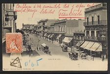 URUGUAY 12 -MONTEVIDEO - Calle 18 de Julio (Sent to México 1905)(Undivided Back)