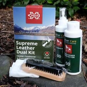 Pelle Leather Care - Supreme Leather Dual Kit - Upholstery Cleaner/Conditioner