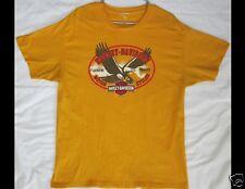 HARLEY DAVIDSON Smithfield North Carolina Sheltons Motorcycle Yellow Shirt