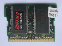 Japan BUFFALO 256MB X1 MicroDIMM for ASUS S200a S200bm 144PIN PC133 US RAM 14