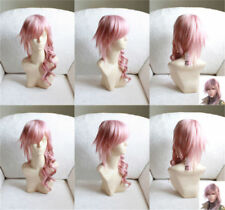 Final Fantasy FF13 Lightning Wig Heat Resistent Cosplay Wig J086
