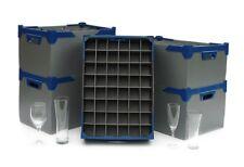 Glassware Storage Boxes for Champagne Glasses and Wine Glasses - Silver