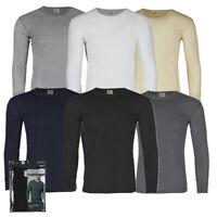 Therma Tek Men's Long Sleeve 100% Cotton Waffle Crew Neck Thermal Top Underwear