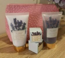 The Garden Collection Lavender Mini Collection Pouch Cubes Bath Gel Hand Lotion