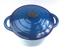 Classica Blue Cast Iron Round Dutch Oven 26cm/5.5L High Quality Cookware