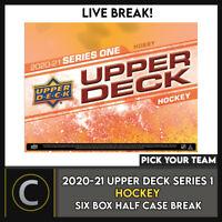 2020-21 UPPER DECK SERIES 1 - 6 BOX (HALF CASE) BREAK #H955 - PICK YOUR TEAM -