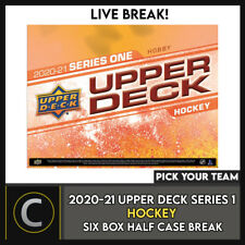 2020-21 UPPER DECK SERIES 1 - 6 BOX (HALF CASE) BREAK #H951 - PICK YOUR TEAM -