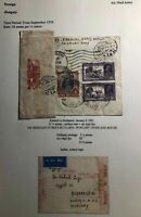 1941 Karachi India Airmail Censored Cover To Budapest Hungary Via Turkey