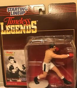 The Great Rocky Marciano Starting Lineup Timeless Legends Figurine/Card