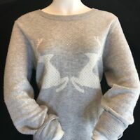 BNWT GANT Ladies Soft Touch Wool Grey Reindeers & Hearts Jumper Size L RRP £110