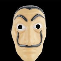 La Casa De Papel Face Mask Money Heist Salvador Dali Latex Halloween Cosplay