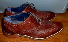 MENS COLE HAAN AIR MADISON C10845 BROWN LEATHER WING-TIPS SHOES SIZE 10M