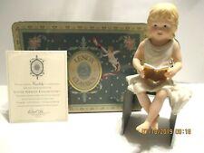 1996 Lenox Little Graces Knowledge Porcelain Angel Figurine Gold Metal Wings L/E