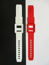 Red & White Silicone Watch Band Wrist Strap Skin Cover Apple iPod Nano 6th gen