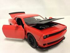2015 Dodge Challenger-SRT HELLCAT, Collectible Diecast 1:24, Jada Toys, Orange