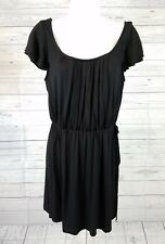 White House Black Market WHBM Dress Sz Small Cap Sleeves Solid Black