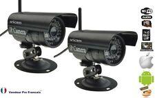 Kit 2 Caméra réseau IP Extérieur vidéosurveillance Extérieur résiste à l'eau Noi