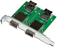 Norco C-8087-8088F 2-Port SFF-8087 to SFF-8088 Adapter w/PCI Mounting Bracket