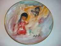 vintage de grazia bell of hope porcelain plate 1977