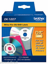 Brother DK1207 White CD DVD Labels for QL550, QL-550 label printers