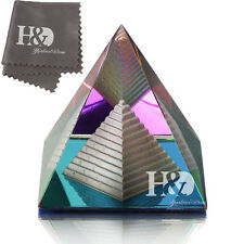 Feng Shui Egypt Egyptian Crystal Pyramid Paperweight Healing Prizm Amulet Gift
