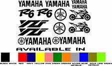 Yamaha R6 YZF 14 Piece Motorcycle Fairing Decal Kit