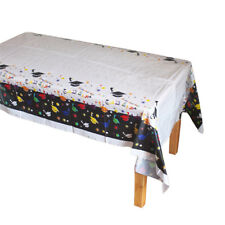 Disposable Plastic Tablecloth Doctorial Hat Table Cover Graduation Party Decor g