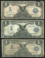 "(3) 1899 $1 ONE DOLLAR ""BLACK EAGLE"" SILVER CERTIFICATES (B)"