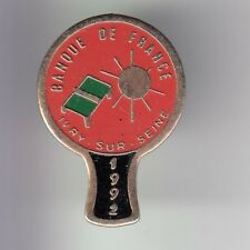 RARE PINS PIN'S .. BANQUE BANK BF DE FRANCE PINGPONG 1992 IVRY SUR SEINE 94 ~DN