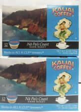 2pk Kauai Coffee Na Pali Coast Keurig 12 K-Cups each