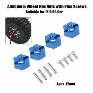 4pcs 1/10 12mm Alumium Wheel  Nuts with Pins Screws for 1/10  W6H0