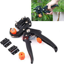 Professional Nursery Grafting Cutting Tool Pruner Knife w/ 2 Extra Blades Black