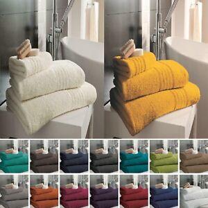 100% Egyptian Cotton Hampton Face Hand Bath Towels Jumbo Bath Sheet 450 GSM Soft