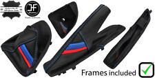 BLUE STITCH M STRIPE MANUAL BOOT SET+PLASTIC FRAME FOR BMW E81 E82 E87 E88