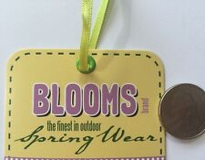 BLOOMS CLIP-ART GARMENT TAG(1pc)Li'l Davis•The Finest In Outdoor Spring Wear•Tag