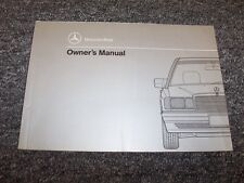 1993 Mercedes Benz 190E 2.3 2.6 Owner Owner's Operator Guide Manual 2.3L 2.6L