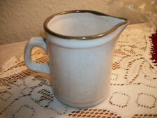 """Stone Ware Creamer - Brown Edge - 3 1/8"""" Tall - Made in Japan"""