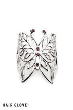 Hair Glove® Hair Ringz Tribal Butterfly w/Purple Crystals, 74035, Hair Jewelry