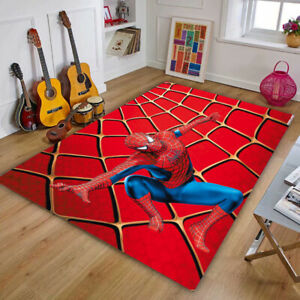 Spider-man Bedroom Area Rug Living Room Carpet Quick Dry Bath Mat Home Decor