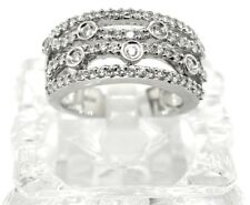 Right Hand Ring. Size 7 14k White Gold And Diamond