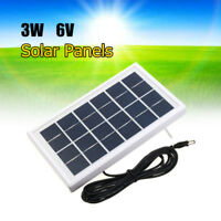 6V 3W Solar Cell Panel Polycrystalline Silicon 3.7V Battery Charger DC5521