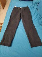 DOCKERS MEN'S BLACK FLAT FRONT ATHLETIC FIT MEN'S DRESS PANTS SIZE 32 X 30