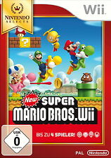 New Super Mario Bros. Wii -- Nintendo Selects (Nintendo Wii, 2014, DVD-Box)