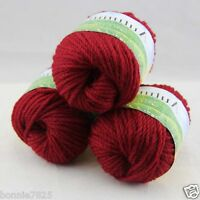 Sale New 3 ballsx50g Hand Knitting Worsted Quick Yarn Soft Wool Silk Velvet 210